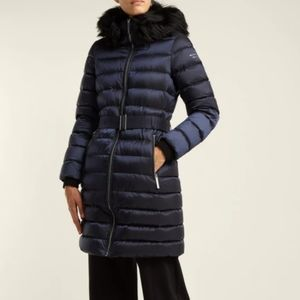 Burberry Limehouse shearling-trim padded coat
